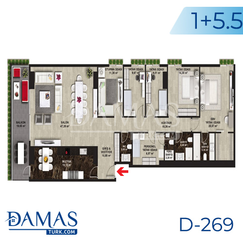 Damas Project D-269 in Istanbul - Floor plan picture 07