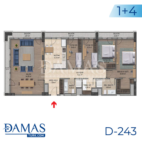 Damas Project D-243 in Istanbul - Floor plan picture  07