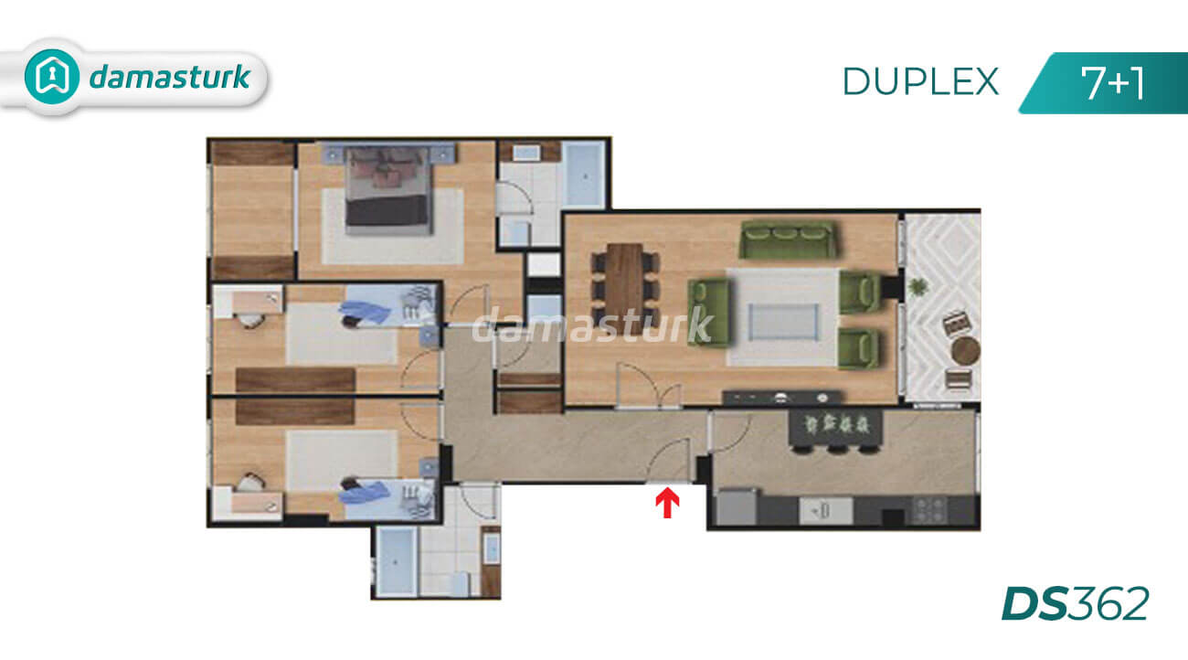 Apartments for sale in Turkey - Istanbul - the complex DS362  || damasturk Real Estate Company 07