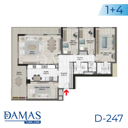 Damas Project D-247 in Istanbul - Floor plan picture 08
