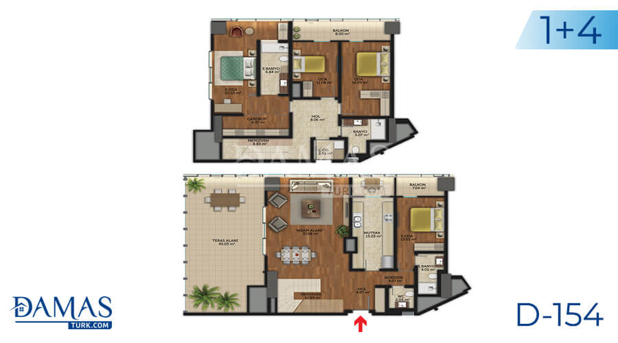 Damas Project D-154 in Istanbul - Floor plan picture 08