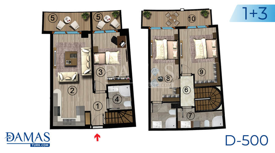 Damas Project D-500 in kocaeli - Floor plan picture  08