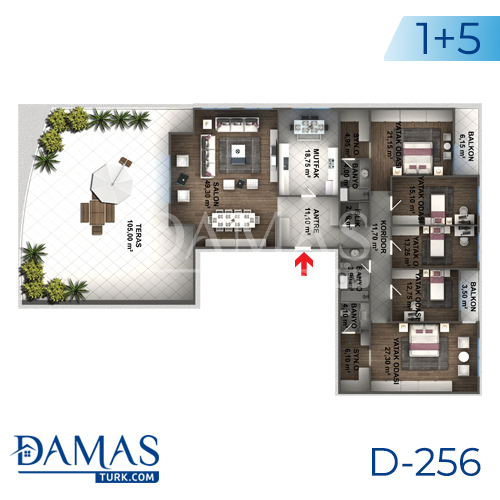 Damas Project D-256 in Istanbul - Floor plan picture 08