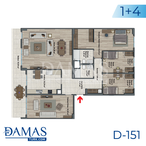Damas Project D-151 in Istanbul - Floor plan picture 08