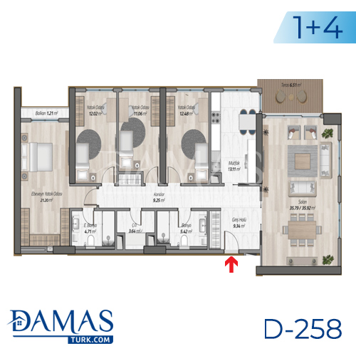 Damas Project D-258 in Istanbul - Floor plan picture 08