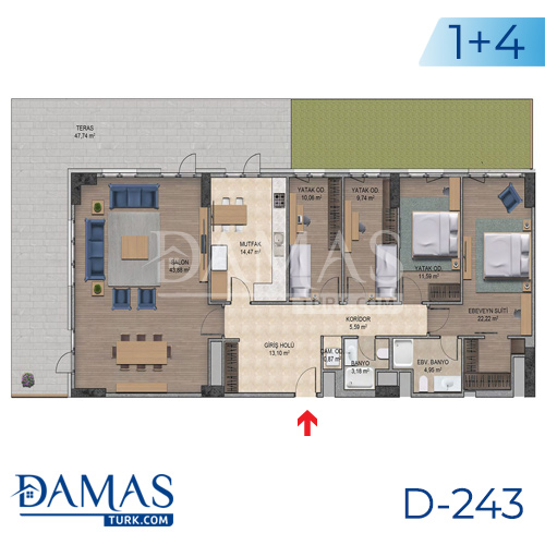 Damas Project D-243 in Istanbul - Floor plan picture  08